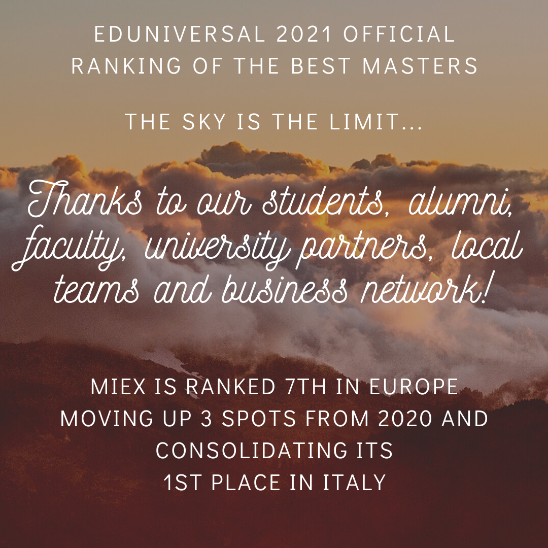 MIEX in the Eduniversal official ranking